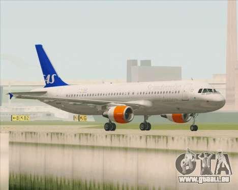 Airbus A320-200 Scandinavian Airlines - SAS für GTA San Andreas rechten Ansicht