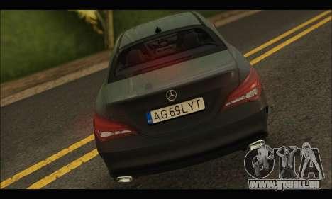Mercedes Benz CLA 250 2014 pour GTA San Andreas vue de droite