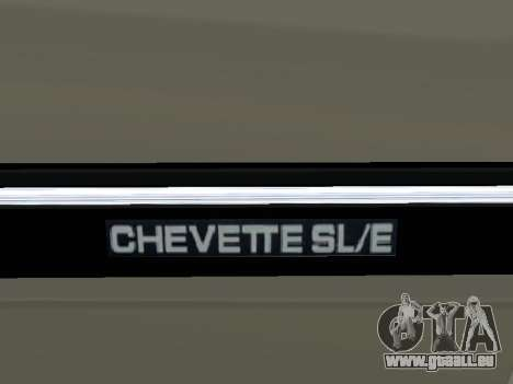 Chevrolet Chevette Hatch pour GTA San Andreas vue de dessus