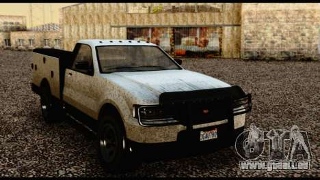 Utility Van from GTA 5 pour GTA San Andreas vue de droite