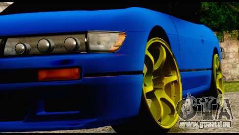 Nissan Silvia S13 Sileighty Drift Moster für GTA San Andreas Rückansicht