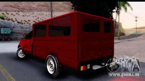 Toyota Hilux FB pour GTA San Andreas laissé vue