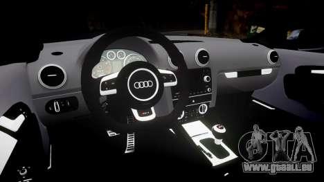 Audi RS3 Stanced pour GTA 4 Vue arrière