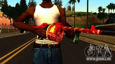 Weihnachten Shotgun für GTA San Andreas dritten Screenshot