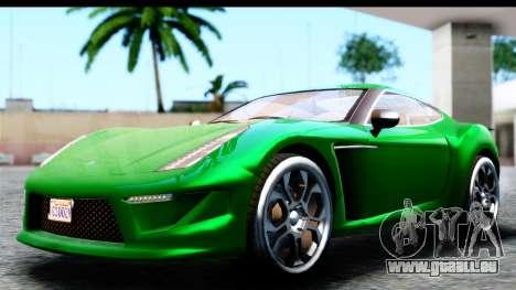 GTA 5 Grotti Carbonizzare v3 SA Mobile für GTA San Andreas zurück linke Ansicht