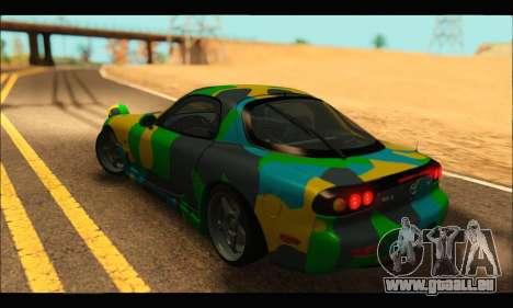 Mazda RX-7 Camo pour GTA San Andreas laissé vue