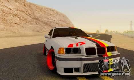 BMW M3 E36 German Style für GTA San Andreas zurück linke Ansicht