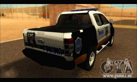 Ford Ranger P.B.A 2015 Text3 für GTA San Andreas linke Ansicht