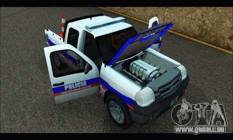 Ford Ranger 2011 Patrulleros CPC pour GTA San Andreas vue de droite