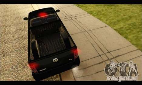 Volkswagen Amarok Cabina Simple pour GTA San Andreas vue de droite