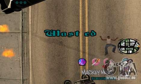 C-HUD Mickey Mouse für GTA San Andreas fünften Screenshot