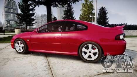 Pontiac GTO 2006 18in wheels pour GTA 4 est une gauche