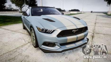 Ford Mustang GT 2015 Custom Kit gray stripes pour GTA 4