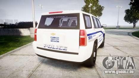 Chevrolet Tahoe 2015 LCPD [ELS] für GTA 4 hinten links Ansicht