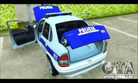 Chevrolet Corsa Policia Bonaerense pour GTA San Andreas vue de droite