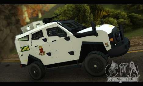 Oshkosh Sand Cat GNB pour GTA San Andreas sur la vue arrière gauche