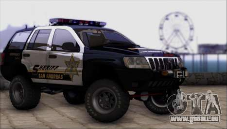 Jeep Grand Cherokee 1999 Sheriff pour GTA San Andreas