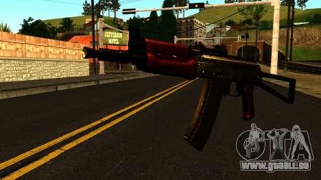 Sombre AKS-74U v1 pour GTA San Andreas