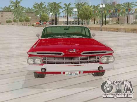 Chevrolet Impala 1959 pour GTA San Andreas sur la vue arrière gauche