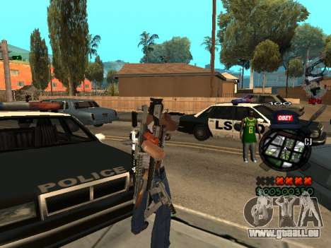 C-HUD Sweet pour GTA San Andreas deuxième écran