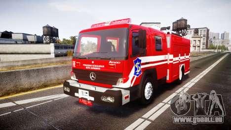 Mercedes-Benz Atego Indonesian Fire Truck [ELS] pour GTA 4