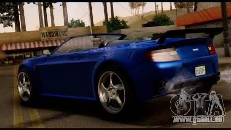 GTA 5 Dewbauchee Rapid GT Cabrio [HQLM] pour GTA San Andreas sur la vue arrière gauche