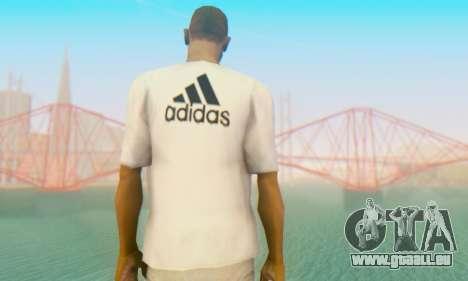 Adidas Shirt White für GTA San Andreas zweiten Screenshot