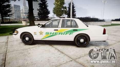 Ford Crown Victoria Martin County Sheriff [ELS] für GTA 4 linke Ansicht