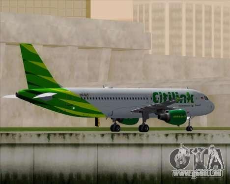 Airbus A320-200 Citilink für GTA San Andreas Rückansicht