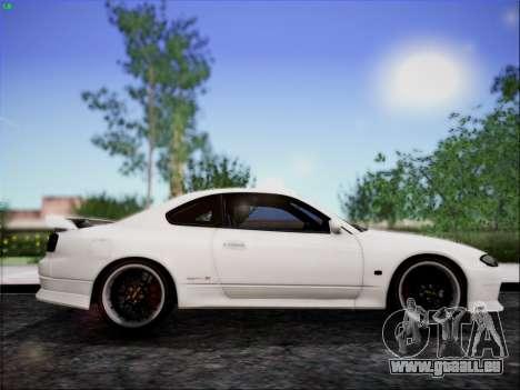 Nissan Silvia S15 Roux pour GTA San Andreas sur la vue arrière gauche