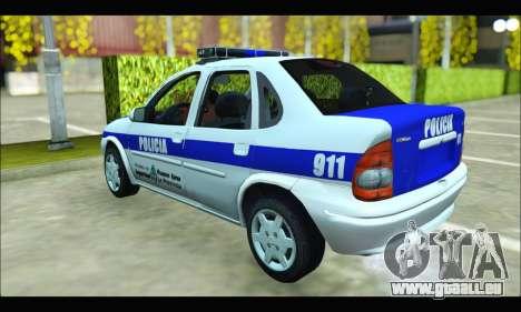 Chevrolet Corsa Policia Bonaerense pour GTA San Andreas sur la vue arrière gauche