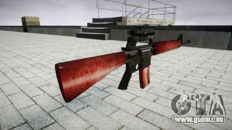Die M16A2 Gewehr [optisch] rot für GTA 4 Sekunden Bildschirm