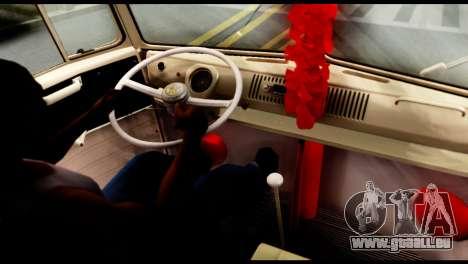 Volkswagen T1 pour GTA San Andreas sur la vue arrière gauche