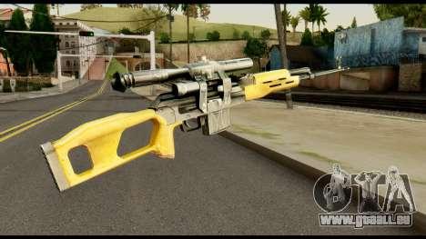SVD from Max Payne pour GTA San Andreas deuxième écran