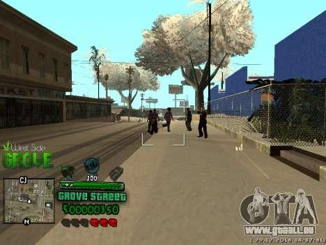 C-HUD Grove Street pour GTA San Andreas cinquième écran