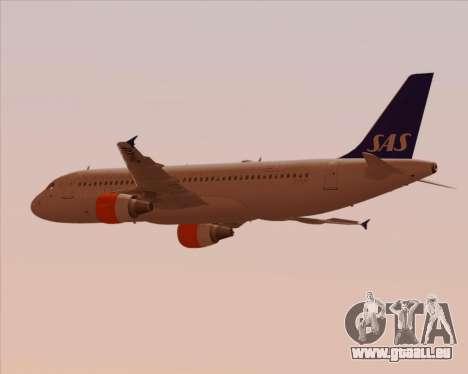 Airbus A320-200 Scandinavian Airlines - SAS für GTA San Andreas Innenansicht