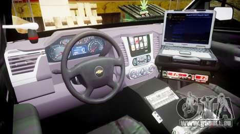 Chevrolet Tahoe 2015 LCPD [ELS] für GTA 4 Rückansicht