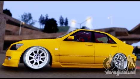 Toyota Altezza Street 2004 pour GTA San Andreas vue arrière