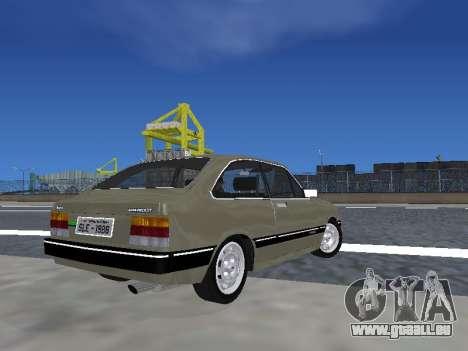Chevrolet Chevette Hatch pour GTA San Andreas laissé vue