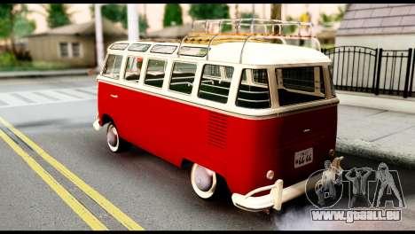 Volkswagen T1 pour GTA San Andreas laissé vue
