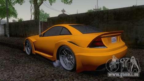 Benefactor Feltzer GTA V für GTA San Andreas linke Ansicht