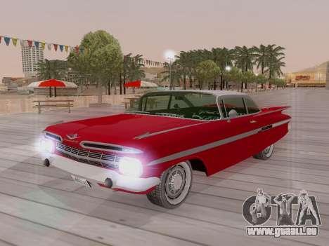 Chevrolet Impala 1959 pour GTA San Andreas vue de dessous