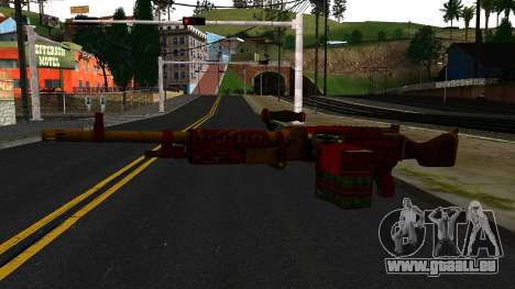 Christmas Minigun für GTA San Andreas