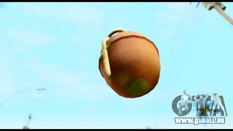 MGS3 Grenade from Metal Gear Solid für GTA San Andreas zweiten Screenshot