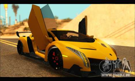 Lamborghini Veneno 2013 HQ pour GTA San Andreas vue de droite