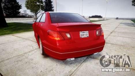 GTA V Benefactor Schafter body wide rims pour GTA 4 Vue arrière de la gauche