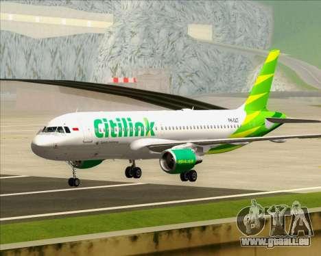 Airbus A320-200 Citilink pour GTA San Andreas laissé vue
