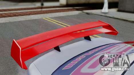 Toyota Vios TRD Racing v2 pour GTA San Andreas sur la vue arrière gauche