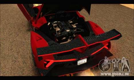 Lamborghini Veneno 2013 HQ pour GTA San Andreas vue intérieure