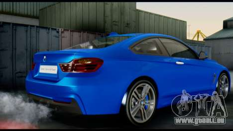 BMW 4-Series Coupe M Sport 2014 für GTA San Andreas linke Ansicht